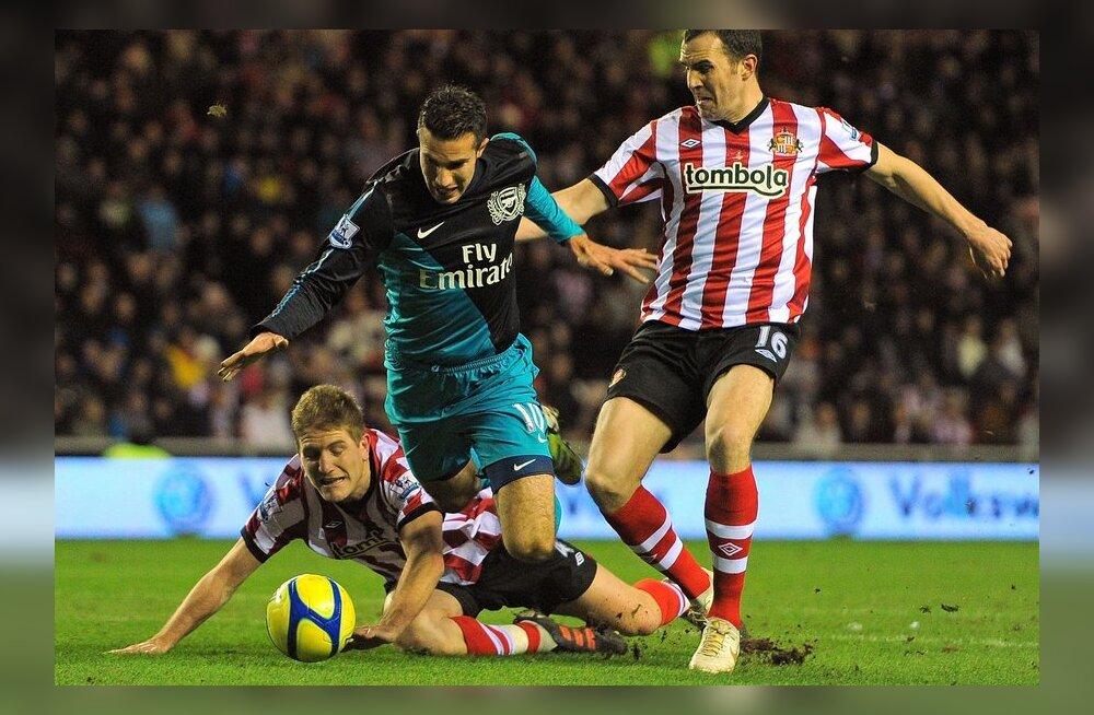 Robin van Persie  (Arsenal) mängus Sunderlandiga