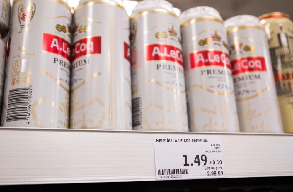 Aktsiisitõus lõi õllehinnad lakke