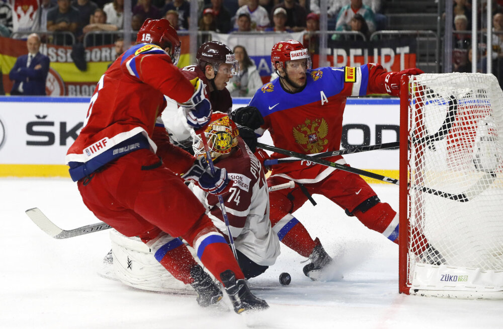 Venemaa ja Läti jäähokimäng