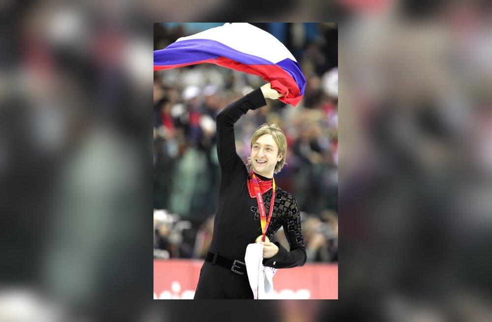Meeste üksiksõidu võitja Jevgeni Pljuštšenko