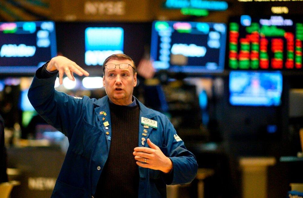 Maakler New Yorgi börsil.