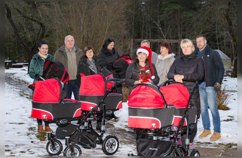 Nii armas: Rakvere Lions Club täitis nelikute ema suurima soovi ja tegi perele suure kingituse