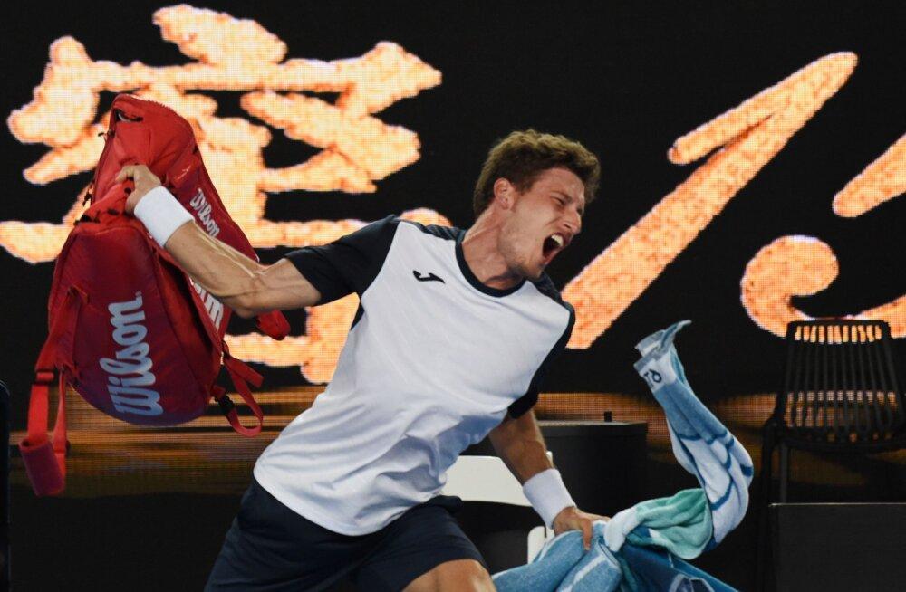 VIDEO | Viietunnine kaheksandikfinaal Australian Openil lõppes märatsemise ja skandaaliga: kas hispaanlasele tehti liiga või mitte?