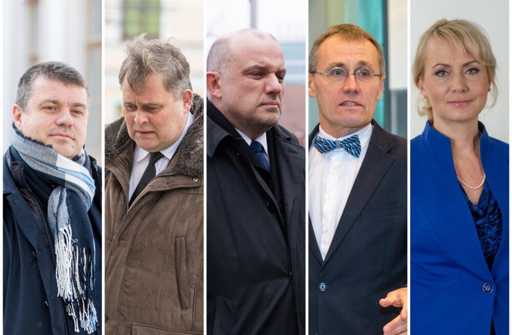 Isamaa ministrid on Jüri Luik, Raivo Aeg, Urmas Reinsalu, Riina Solman ja Tõnis Lukas