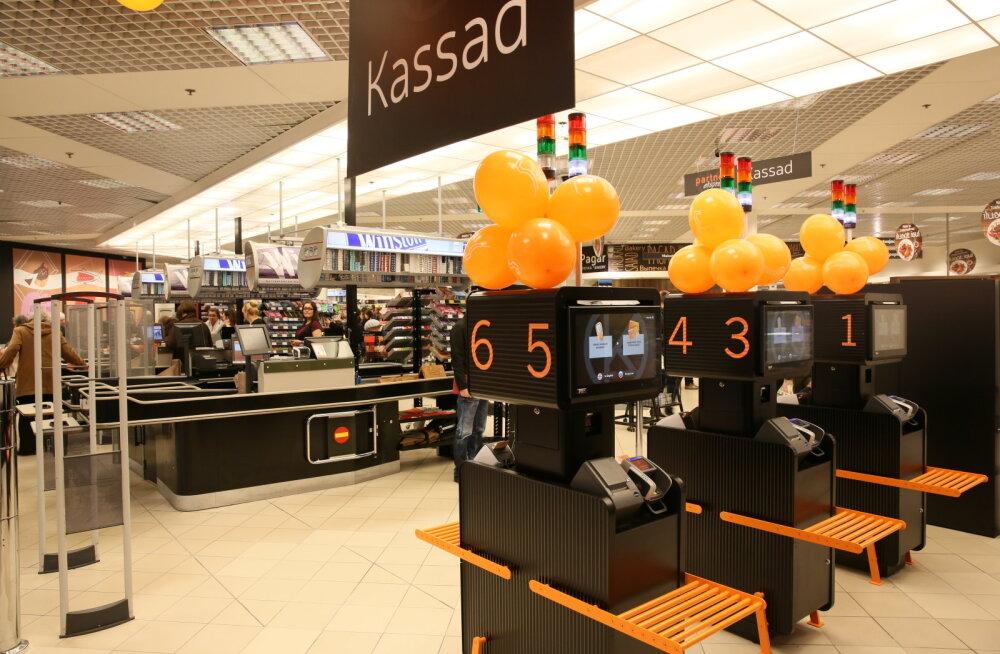В продуктовом отделе Kaubamaja открылись кассы самообслуживания