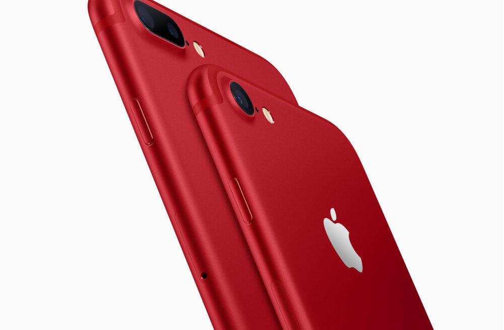 Apple püüab raputada telefoniturgu säravpunase telefoniga