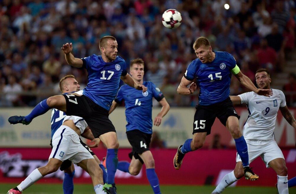 7f6ef4521b8 Eesti jalgpallikoondis keeras kapten Ragnar Klavani juhtimisel oma kaitse  lukku.