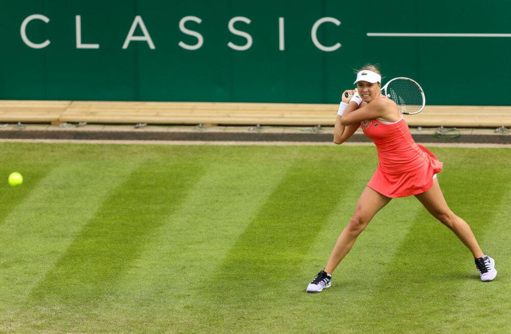 Selgus Anett Kontaveidi vastane Eastbourne'i turniiri teises ringis
