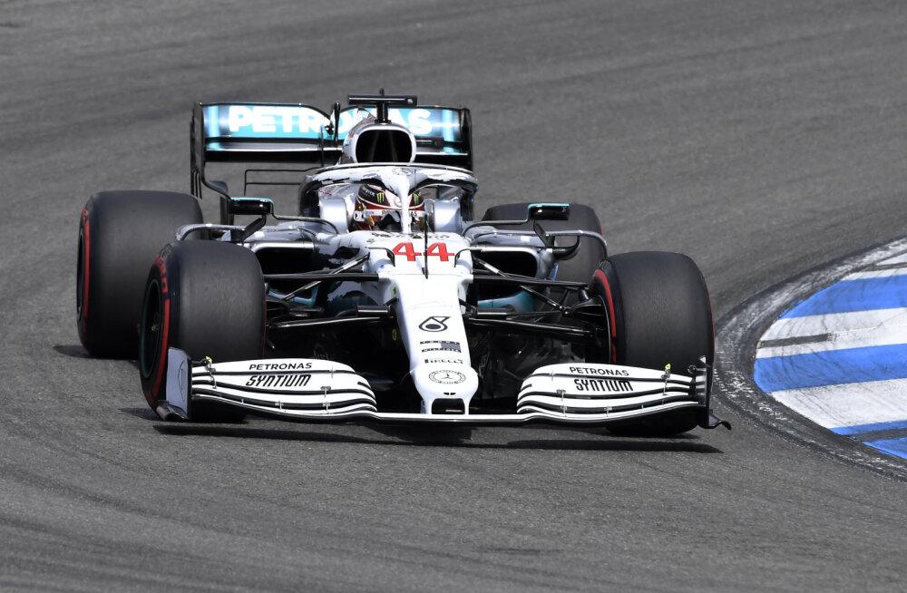 VIDEO | Hamilton võitis Saksamaa GP kvalifikatsiooni, Ferrarit tabas katastroof