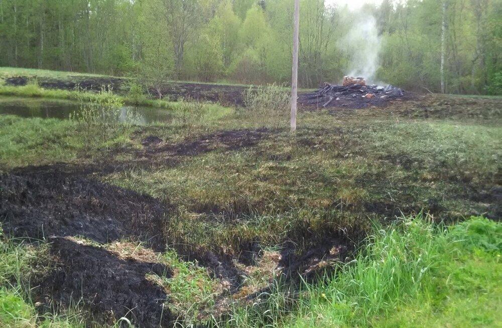 Võrumaal põles mahajäetud saun