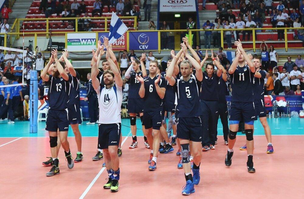 Eesti ja Serbia võrkpallikoondise play-off-mäng EM-i finaalturniiril Pala Yamamay Arenal Busto Arsizios