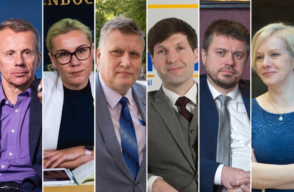 Jürgen Ligi, Kadri Simson, Jaanus Marrandi, Martin Helme, Urmas Reinsalu ja Monika Haukanõmm