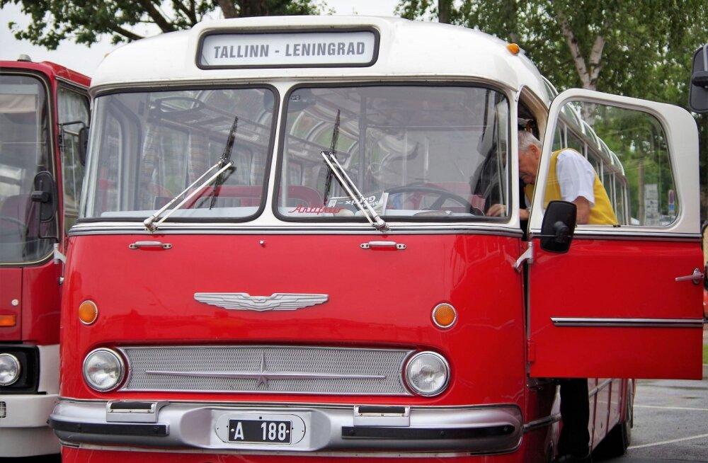 Ретро-автобусы в Таллине. Фото: Елена Цыганова