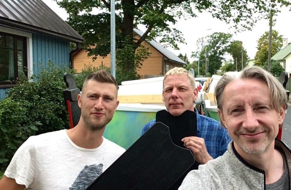 Reisiseltskond. Vasakult: Agur Paesüld, Kaupo Kasemaa, Ivar Soopan.