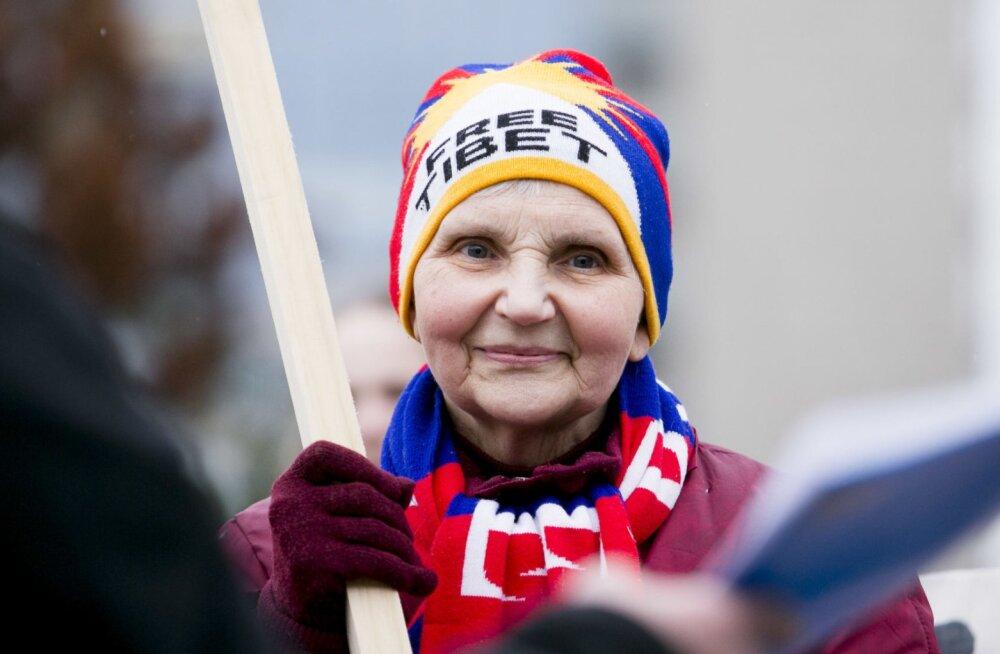 Baltikumis toimusid meeleavaldused Tiibeti toetuseks