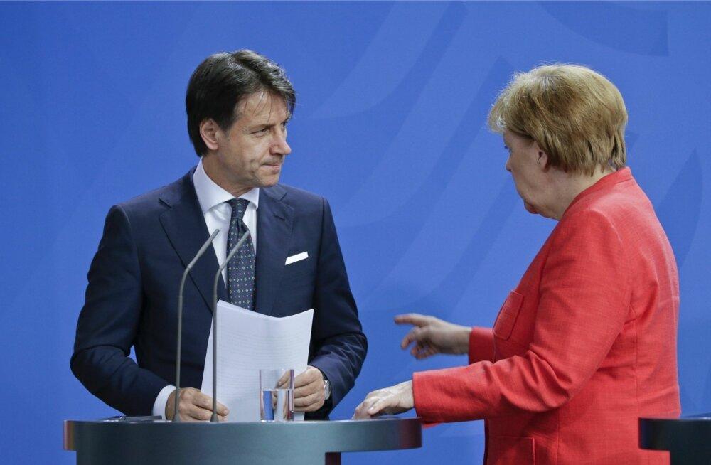 Itaalia olukorda pingestavad rändekriis ja nõrk kasvuväljavaade. Saksamaa kantsler Angela Merkel kinnitas Itaalia peaministrile Giuseppe Contele, et toetab Itaalia püüdlusi vähendada rannikule saabuvate migrantide hulka.