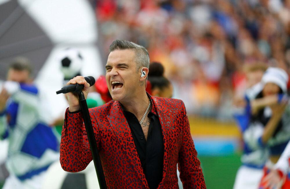 Skandaal talendisaates: Robbie Williams läks transseksuaalse laulja küsitlemisega liiale