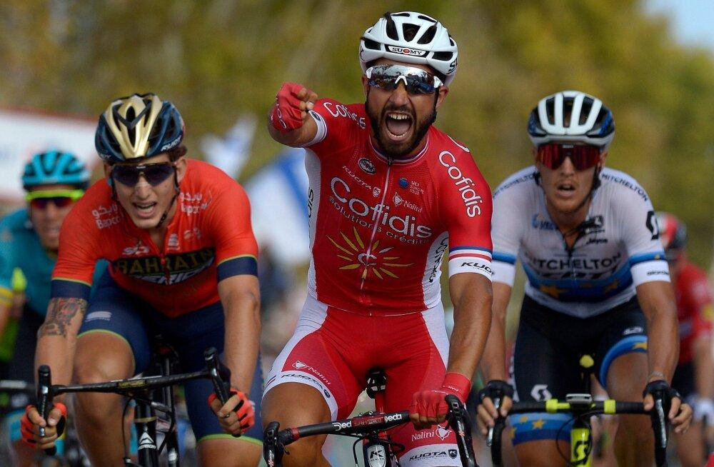 VIDEO | Vuelta kuuenda etapi võitis Prantsusmaa sprinter, liidrina jätkab Rudy Molard