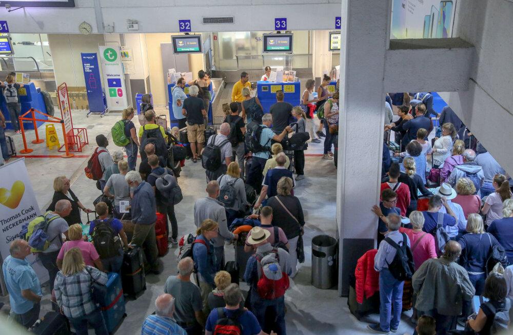 Briti reisifirma Thomas Cook pankroti tõttu ei pääse üle poole miljoni inimese liikuma