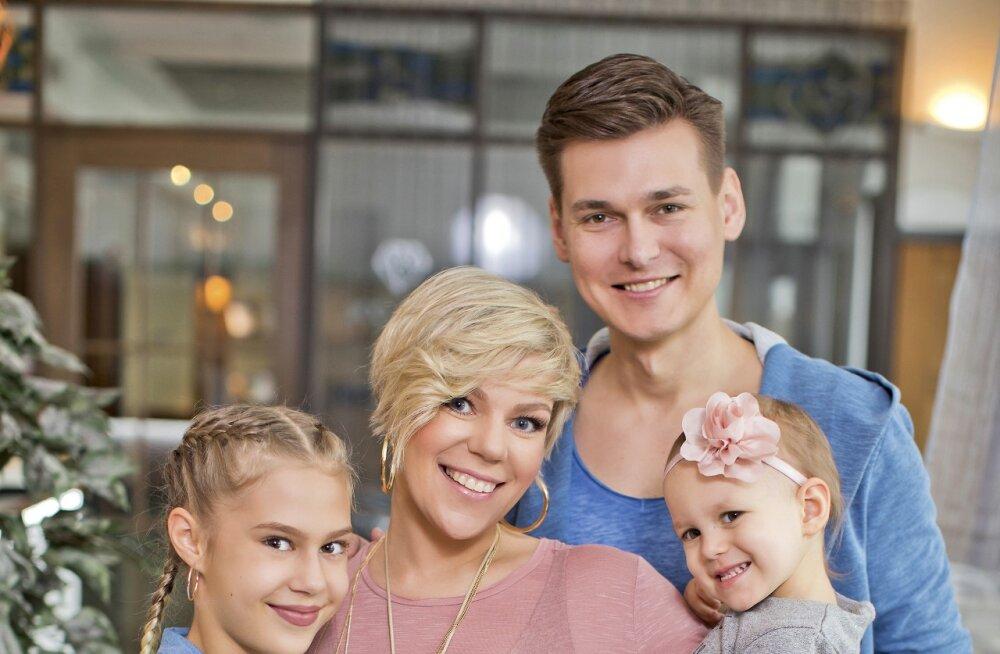 Gerli Padar ja Martin Parmas on pühendunud tütar Amanda karjääri edendamisele