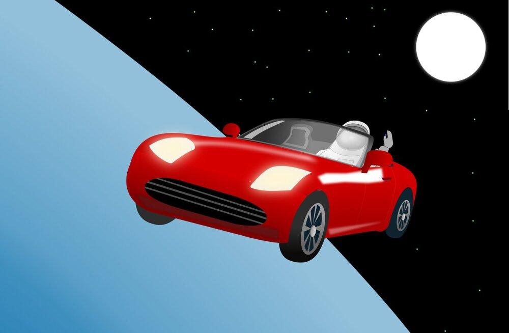 """Kus on Tähemees? Elon Muski reklaamitrikk """"purjetab"""" ilmaruumis juba ligi kolm aastat"""