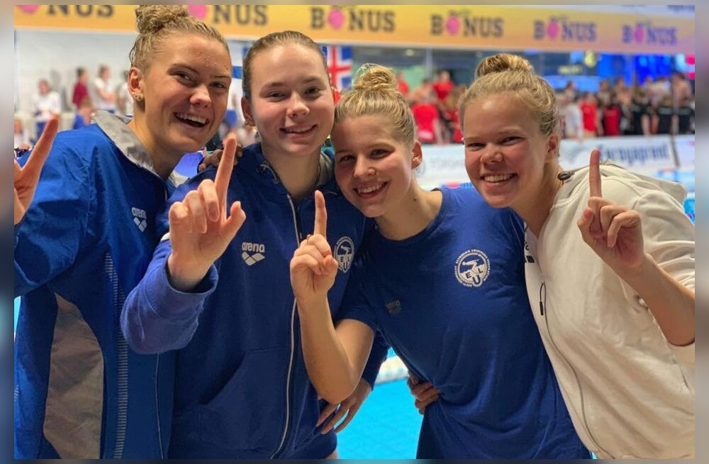 Eesti naised püstitasid Fääri saartel 4x100 m teateujumise rekordi
