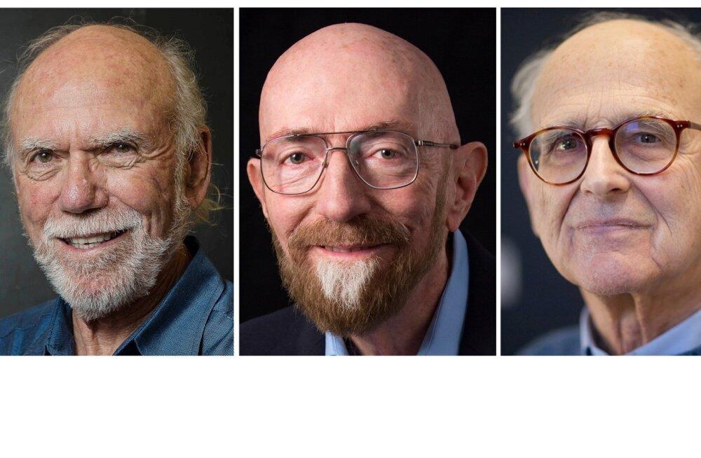 Nobeli füüsikapreemia 2017 laureaadid Barry C. Barish, Kip S. Thorne ja Rainer Weiss.