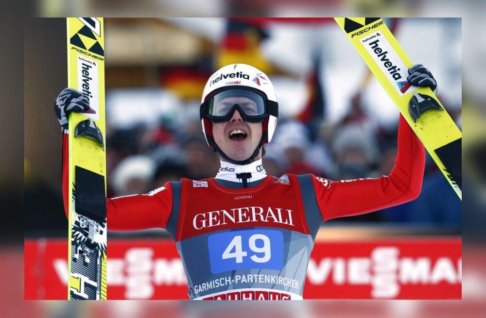 Simon Ammann nelja hüppemäe Garmisch-Partenkircheni etapil