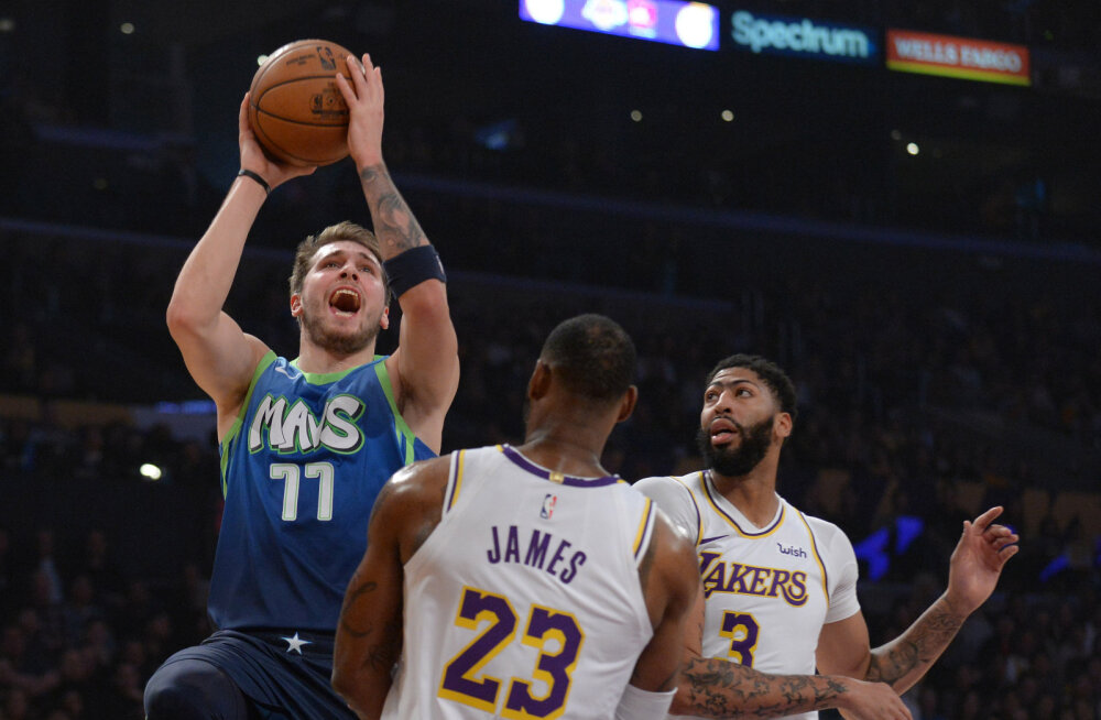 VIDEO | Võimas Luka Doncic lõpetas Lakersi kümnemängulise võiduseeria