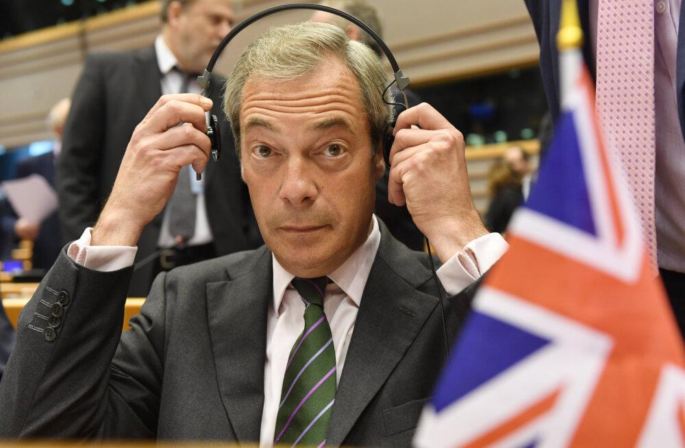 VIDEO: Euroopa Parlamendi liikmed segasid Nigel Farage´i kõnet vahelehüüete ja pilgetega