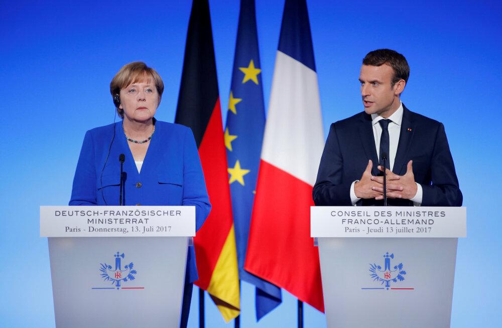 Merkel ja Macroni ühisavaldus taotleb Euroopa Liidult Põhja-Korea suhtes karmimate sammude astumist