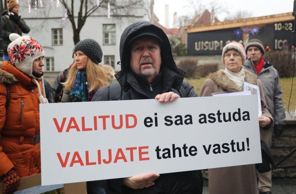 Rail Balticu vastane meeleavaldus 26.01.2017