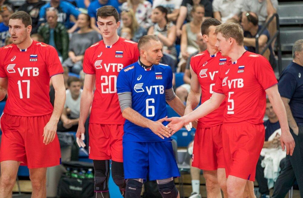 Võrkpallikoondise sõprusmäng Venemaa vs Eesti