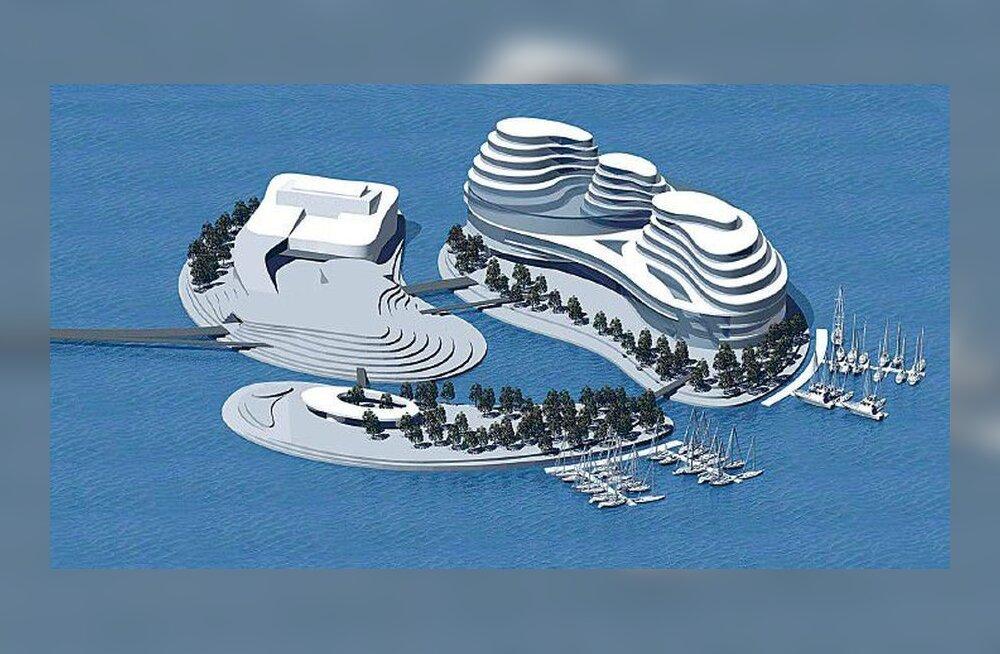 Проект: смотрите, как будут выглядеть искусственные острова в Пальяссаареской гавани Таллинна