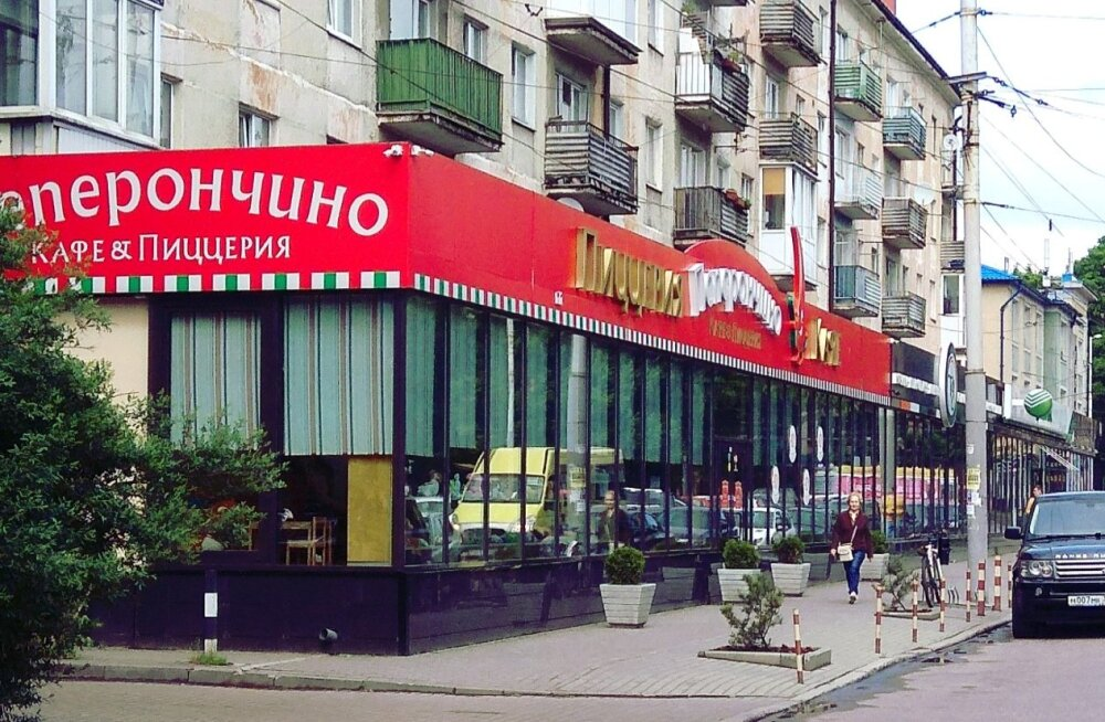 Peperontšino restoran Kaliningradis. Kaliningrad on üks Venemaa linn, kus toimub tänavune Jalgpalli MM.