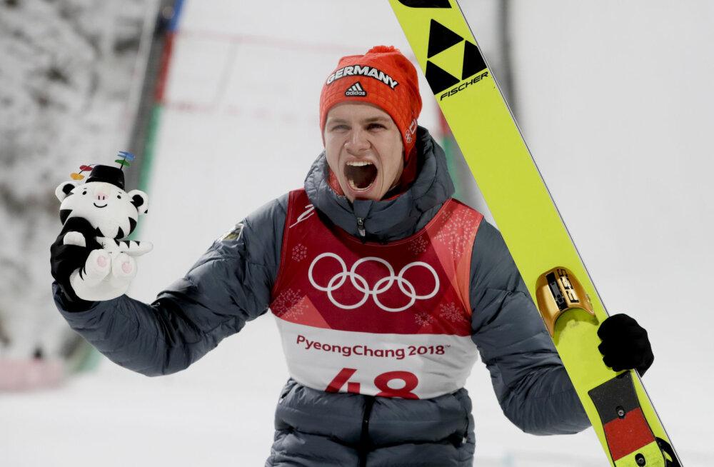 Suusahüppe olümpiavõitja sai treeningul raske trauma ja peab järgmise hooaja vahele jätma