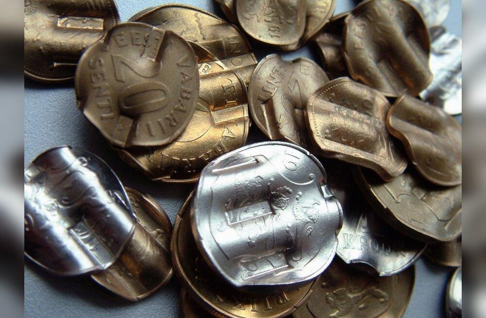 Hävitatud Eesti krooni mündid