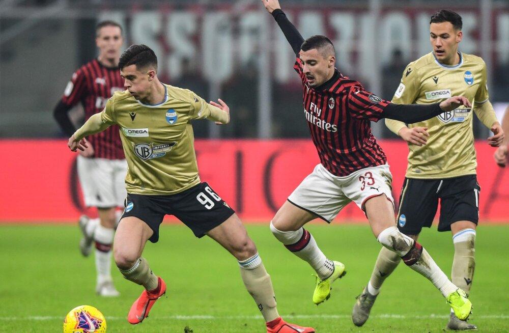 Segadus Itaalias: Georgi Tunjovi koduklubi mängu algus lükati viimasel hetkel koroonaviiruse tõttu edasi