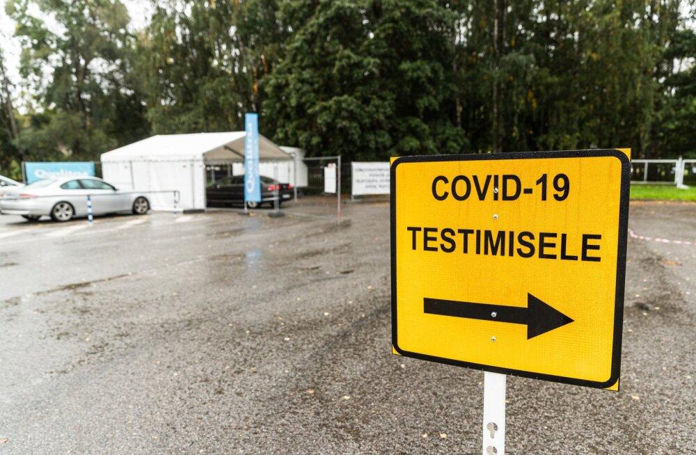 Covid-19 testimine Tartu lauluväljakul