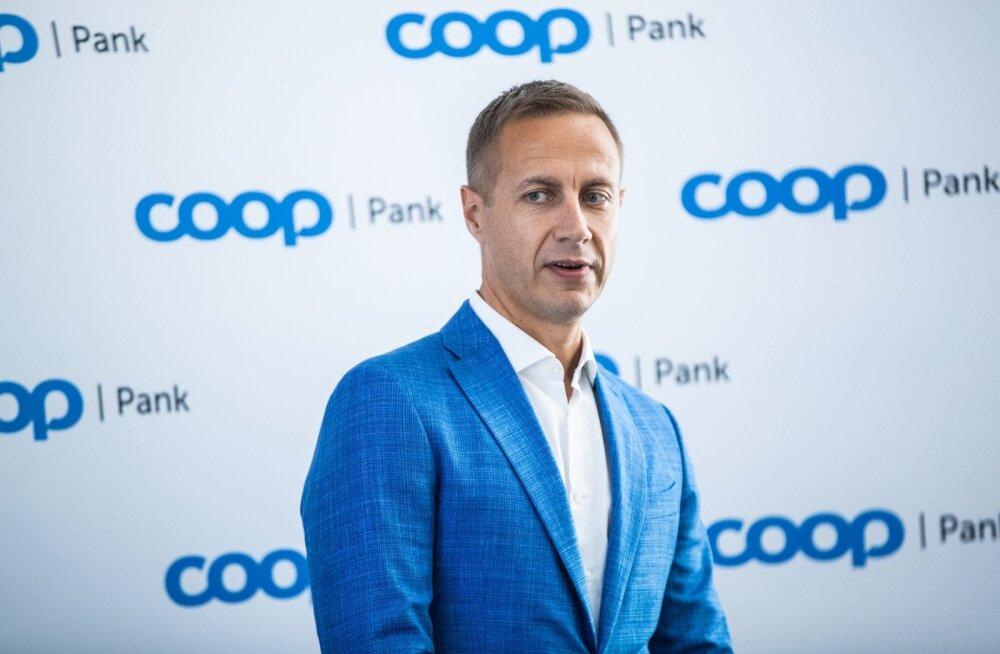 Coop Pank juhatuse esimees Margus Rink ja nõukogu esimees Jaanus Vihand