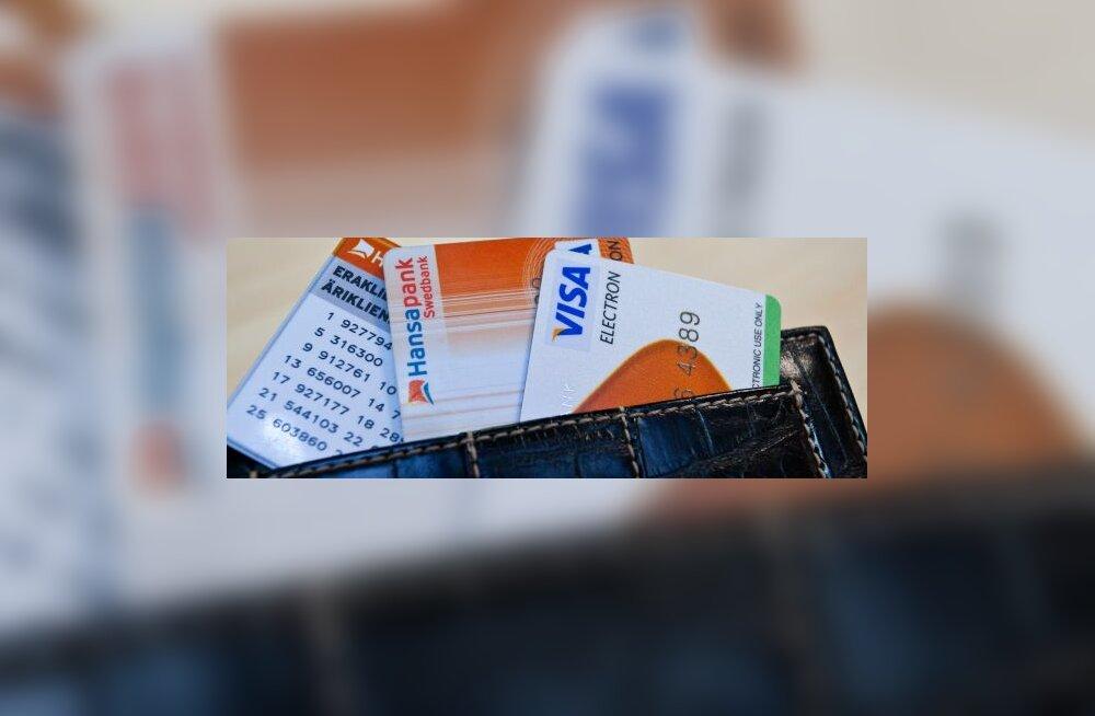 Krediitkaardiga hättajäänule krõbedam intress