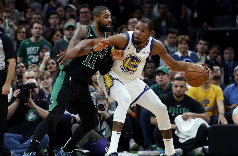 VIDEO | Warriors alistas Celticsi ja pikendas võiduseeria kümnemänguliseks, Jokic säras Philadelphia vastu