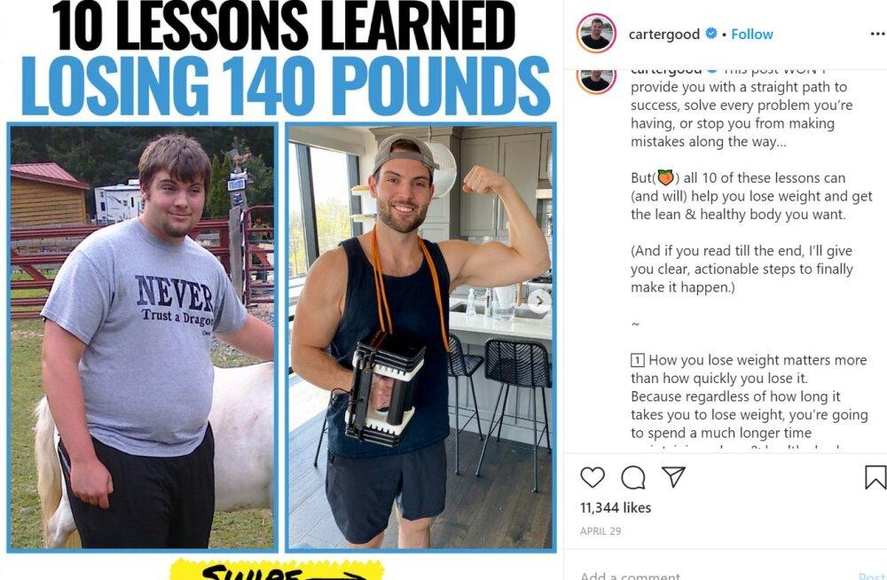 FOTOD   63 kilo kaotanud mees jagab nõuandeid, kuidas kaalust alla võtta ja tulemust säilitada