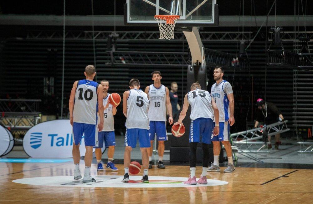 Eesti korvpallikoondise treening 17.02.2020