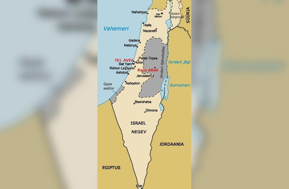 Lähis-Ida kaart, Iisrael