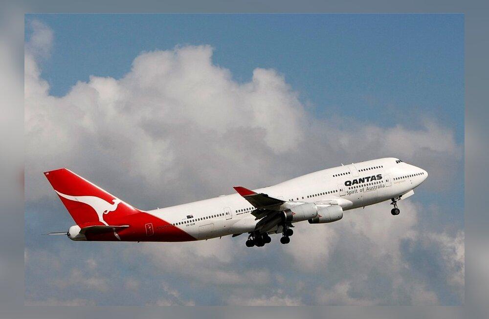 Qantase lennuki pardal haigestus 26 reisijat kõhutõppe