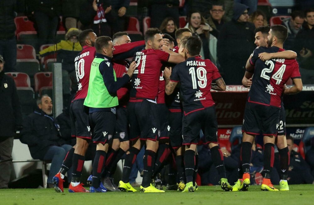VIDEO | Cagliari kaunis keskjoonevärav tühistati, kuid võit Fiorentina vastu tuli!