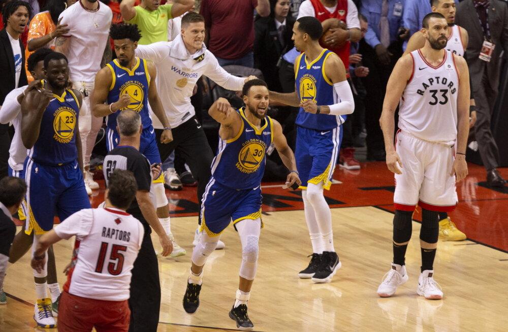 VIDEO | Warriors sai ühepunktilise võidu ja jäi finaalseerias ellu, kuid kaotas taas Duranti