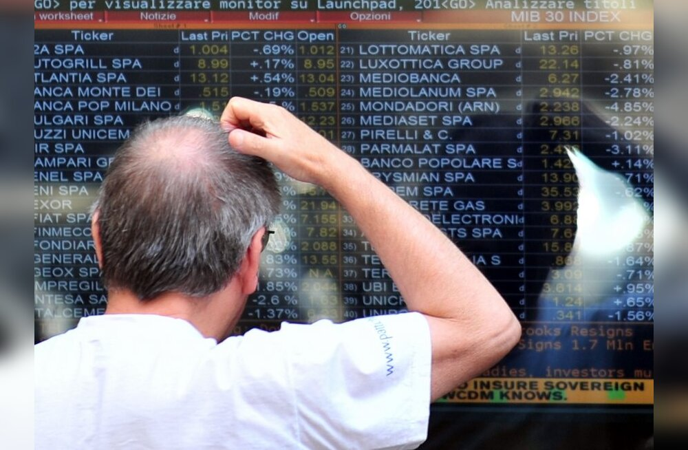 Euroopa aktsiaturge tabas Itaalia kriisi hirmus järsk langus