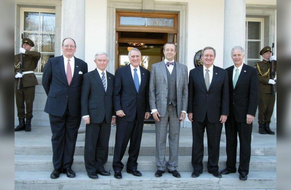 President Ilves kohtus Ameerika Ühendriikide senaatoritega